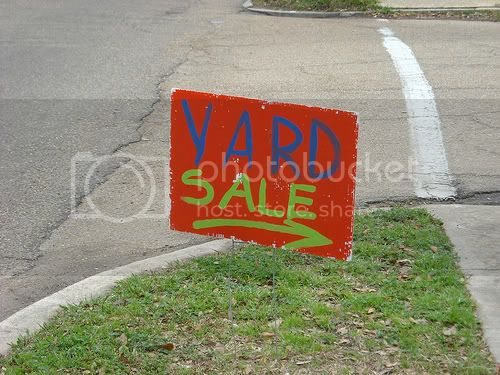 Bargain Shopping: Yard Sales